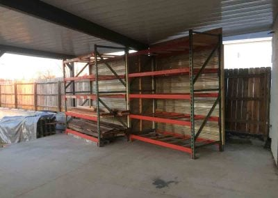 New Storage Racks 1/23/2018