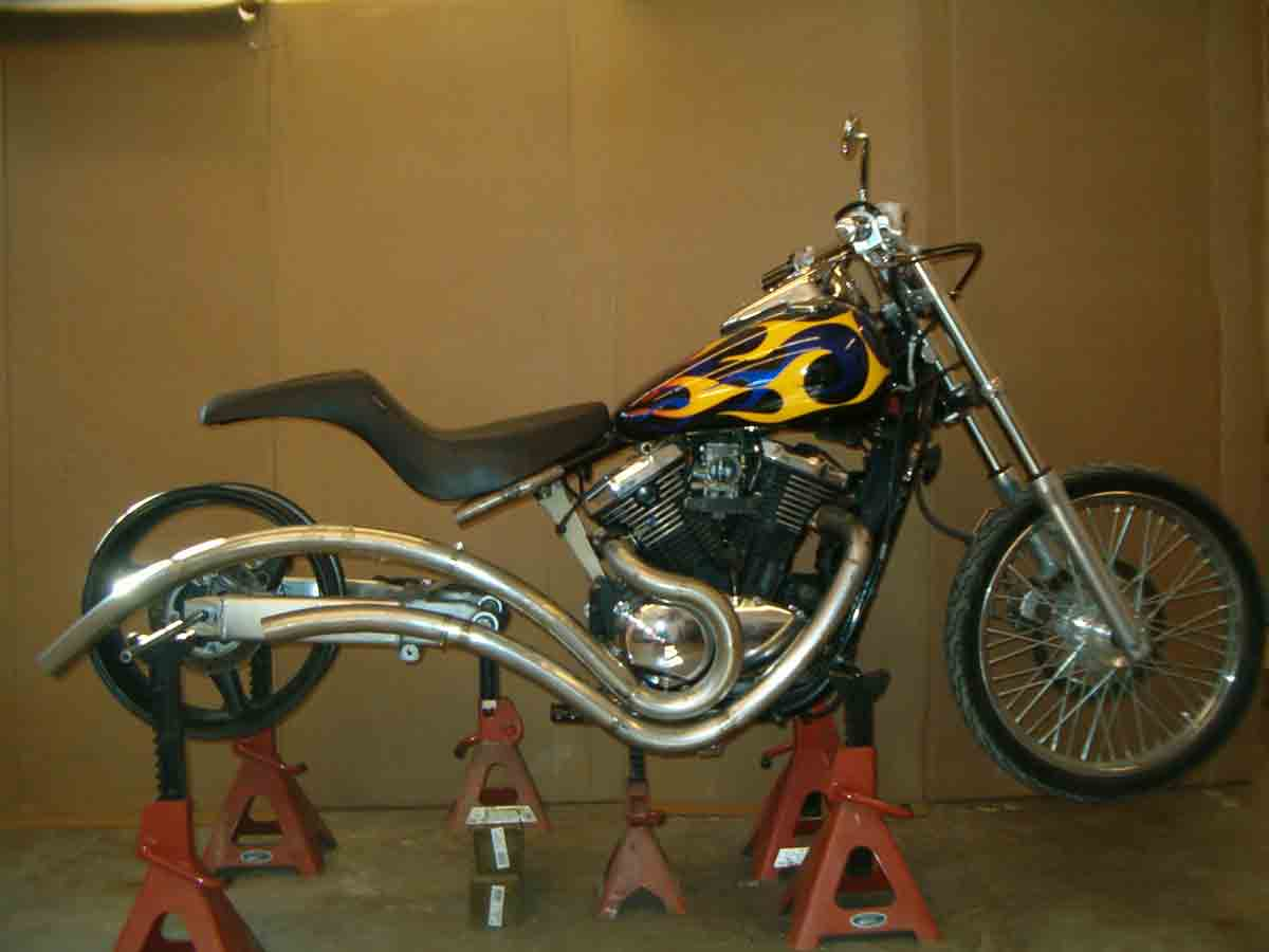 Motorcycle under construction
